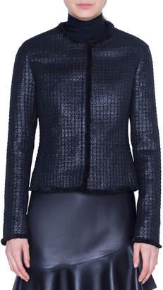 Akris Punto Lacquered Tweed Jacket