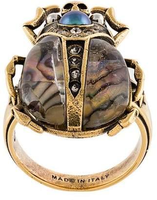Alexander McQueen bug plaque ring
