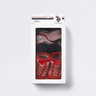 River Island Baby U.S. POLO ASSN. red stripe boots