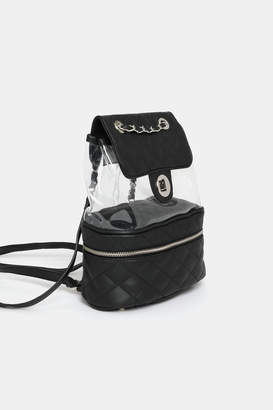 Ardene Quilted and Plastic Backpack