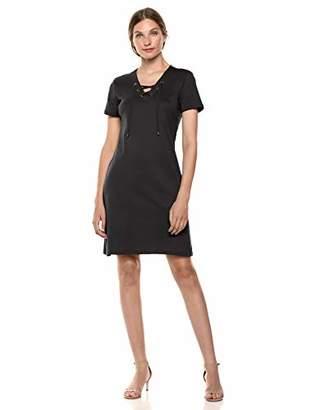 Calvin Klein Women's Short Sleeve LACE UP Dress