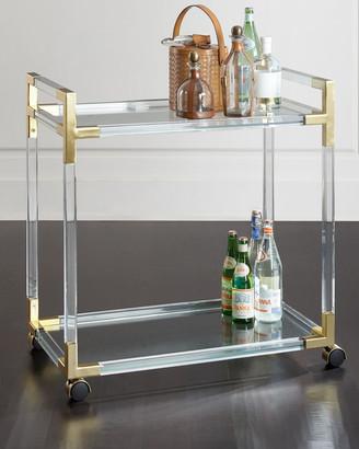 Jonathan Adler Jacques Acrylic & Brass Bar Cart