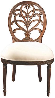 One Kings Lane Adelaide Side Chair - Ivory/Walnut