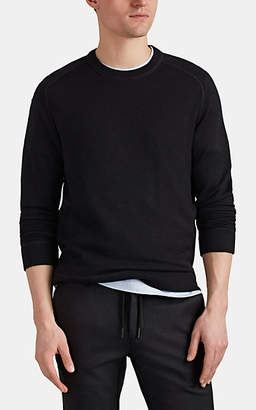 Massimo Alba Men's Cashmere Crewneck Raglan-Sleeve Shirt - Charcoal