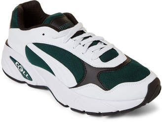 Puma White & Green CELL Viper Low-Top Sneakers