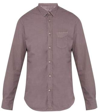 Officine Generale Lipp Cotton Shirt - Mens - Purple