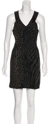 AllSaints Embellished Mini Dress sleeveless black