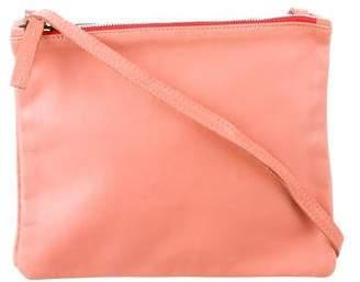 Clare Vivier Leather Double Sac Crossbody Bag
