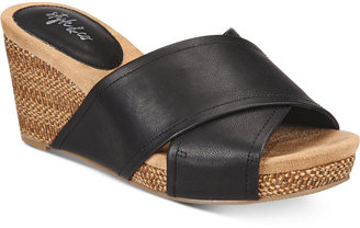 Style & Co Jillee Crisscross Slide Wedge Sandals, Created for Macy's Women's Shoes $49.50 thestylecure.com