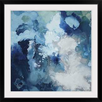 Great Big Canvas 'Blu Flo' by Randy Hibberd Painting Print Format: Black Frame,