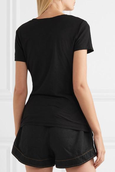 James Perse Casual Slub Cotton-jersey T-shirt - Black