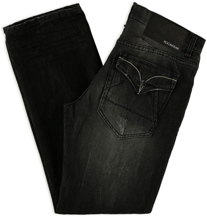 Rocawear Mens Classic Regular Straight Leg Jeans
