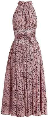 Diane von Furstenberg High-neck silk dress
