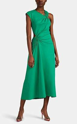 A.L.C. Women's Beale Cutout Linen-Blend Asymmetric Dress - Green