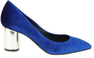 Giuseppe Zanotti crudelia Decollete In Velvet Electric Blue Color