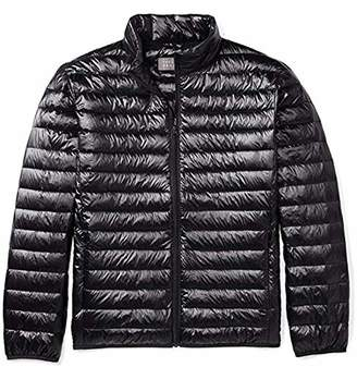 The Plus Project Men's Plus Size Lightweight Down Jacket Stand Collar 2X-Large Black