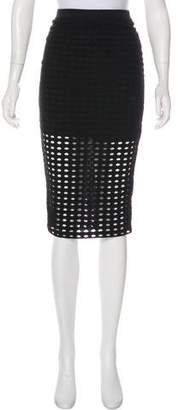 Alexander Wang Laser Cut Pencil Skirt