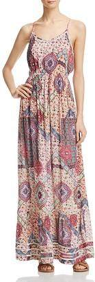 AQUA Floral Medallion Print Maxi Dress - 100% Exclusive $88 thestylecure.com