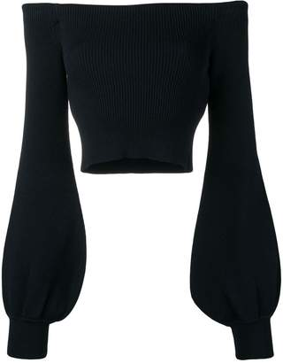 Faith Connexion bishop sleeve off the shoulder sweater
