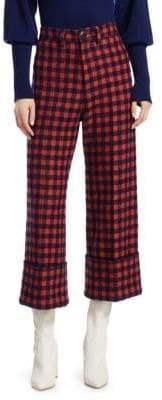 Sea Pop Plaid Cuff Trousers