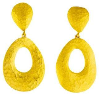 Yossi Harari 24K Roxanne Clip-On Earrings