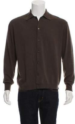 Prada Woven Button-Up Cardigan