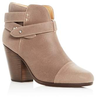 Rag & Bone Women's Harrow Waxed Leather Cap Toe High Heel Booties