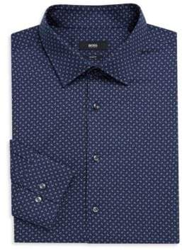 BOSS Slim-Fit Paisley-Print Shirt