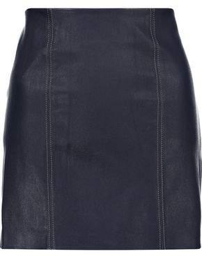 COM Alexander Wang Stretch-Leather Mini Skirt