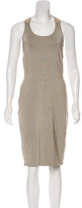Ralph Lauren Black Label Suede-Trimmed Silk Dress w/ Tags