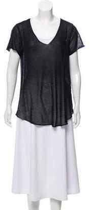 OSKLEN Open Knit Short Sleeve Top