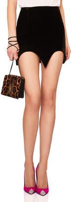 Saint Laurent Velvet Bat Hem Skirt