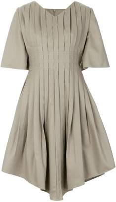 Vejas pleated v-neck dress