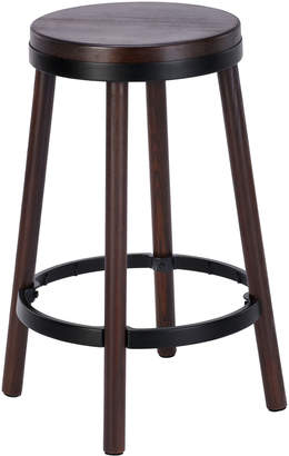 Webster Temple & 66cm Walnut & Black Brooklyn Bar Stool