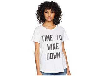 Original Retro Brand The Time to Wine Down Rolled Short Sleeve Slub Tee