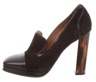 Dries Van Noten Suede Round-Toe Pumps