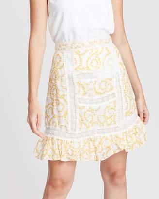 Stevie May Marigold Mini Skirt