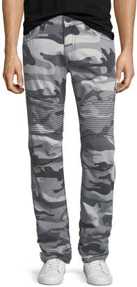 True Religion Slim Camouflage Moto-Style Pants