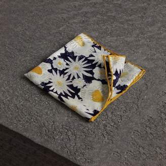 Burberry Daisy Print Silk Pocket Square