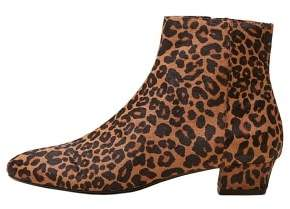 MANGO Leopard-print leather ankle boots