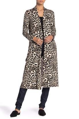 TOV Leopard Print Open Front Cardigan