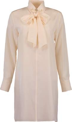 Chloé Neck Tie Silk Dress