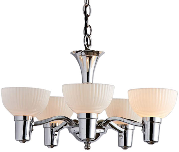 Polished Chrome 5-Light Transitional Cup Chandelier
