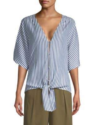 Paige Baylee Striped Tie Waist Top