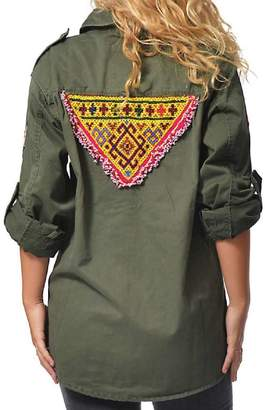 Gypsetters Blouse Military Embellished