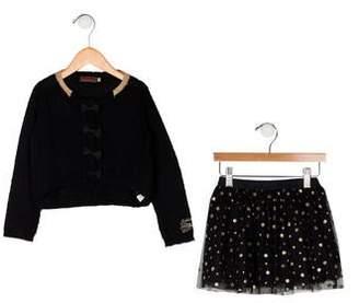 Catimini Girls' Glitter-Accented Skirt Set
