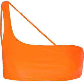 JADE SWIM Apex One-shoulder Bikini Top - Orange