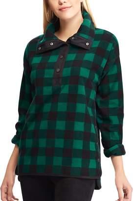 Chaps Women's Plaid 1/2-Snap Fleece Jacket