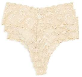 Cosabella Women's 3-Pack Extended Size Lace Thongs