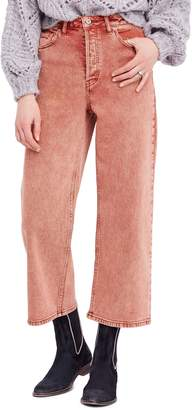 Free People Wide Leg Crop Jeans